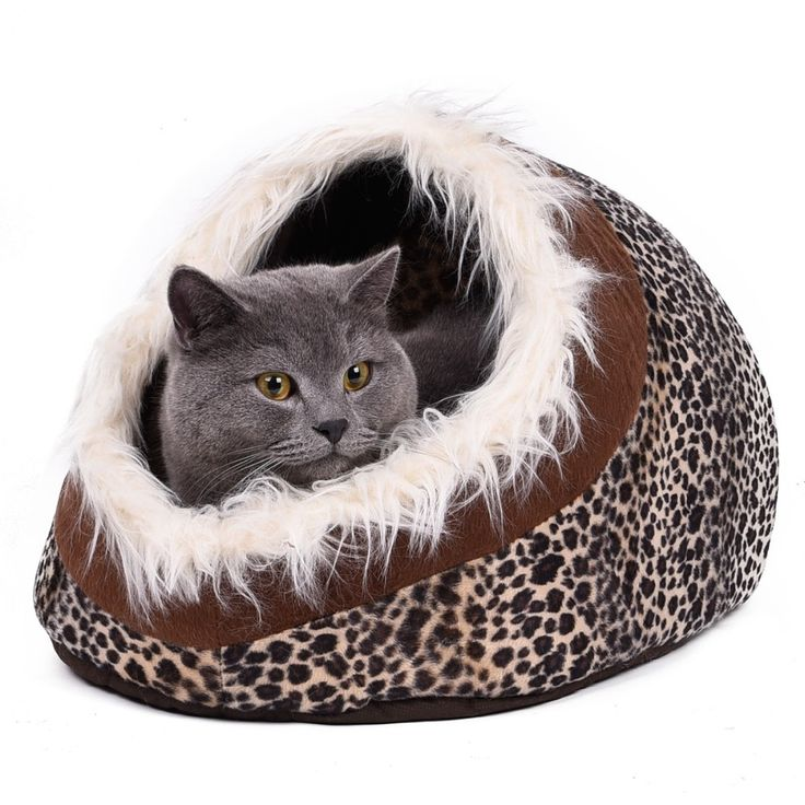 Animal Print Pet Bed Lounge Hide-away