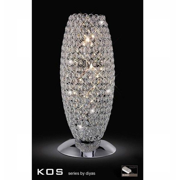 Diyas Kos Crystal Table Lamp For Living Room ❤ Liked On Polyvore Featuring  Home, Lighting, Table Lamps, Lamps, Crystal Lamps, Crystal Glass Lamp, ... Part 82