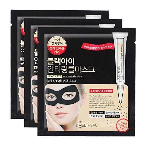 K-Beauty Mediheal Black Eye Anti-Wrinkle Mask 3pcs #Mediheal