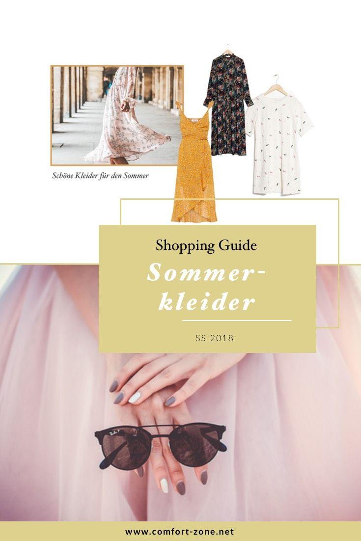 shopping guide: schöne kleider für den sommer 2018