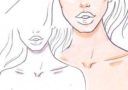 How to draw skin and how to draw shadows step by step tutorial for drawing fashion sketches