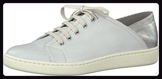 Tamaris Schuhe 1-1-23611-28 bequeme Damen Schnürer, Schnürschuhe, Halbschuhe, Sommerschuhe für modebewusste Frau, weiß (WHITE/SILVER), EU 37 - Schnürhalbschuhe für frauen (*Partner-Link)