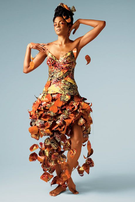 autumn leaves and wedding dresses