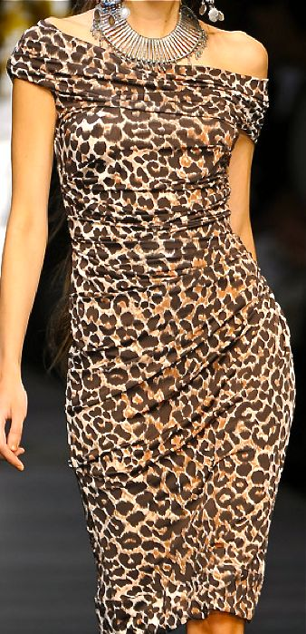#VeryNiceFit Mariella Burani Leopard print animal print cheetah print dress Beautifuls.com Members VIP Fashion Club 40-80% Off Luxury Fashion Brands