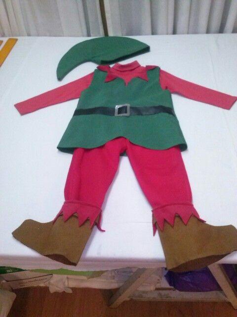Disfraz mart n de duende para el festival navide o mis - Disfraces duendes navidenos ...