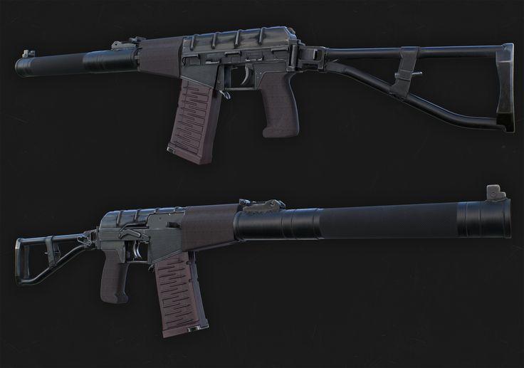 as val, gun, game, lowpoly, ас вал, оружие