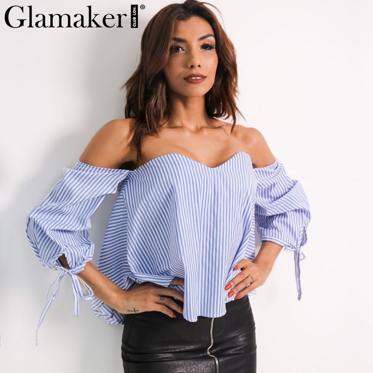 Glamaker Sexy plaid off shoulder blouse shirt Spring striped backless women tops Slim elegant beach blouse blusas Buy now for $ 21.98 & get FREE Shipping worldwide    #f4f #tbt #followme #like4like #shopping #fashion #style #shoppingaddict #followme #musthave #ootd #fashionmodel