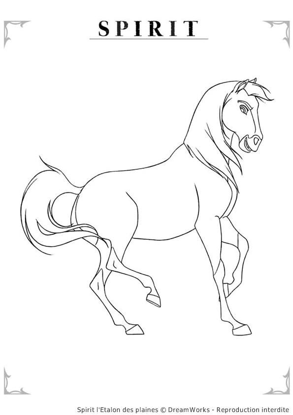 best coloring pages/lineartdreamworksspirit stallion