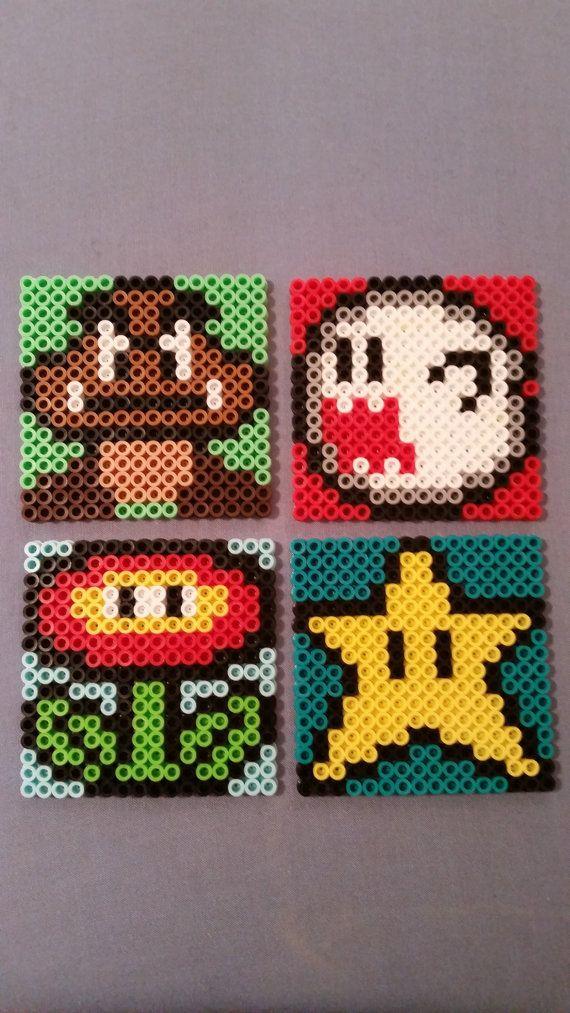 Mario Perler Bead Coasters by AshMoonDesigns on Etsy, $4.00