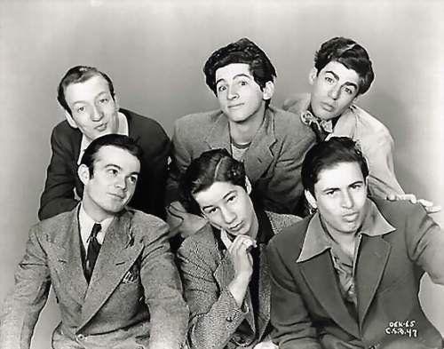 The original Dead End Kids (top) Huntz Hall, Gabriel Dell, Billy Halop, (bottom) Leo Gorcey, Bobby Jordan & Bernard Punsly (all now deceased)