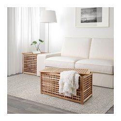 IKEA - HOL, Stol+odlaganje, Puno je drvo izdržljiv, prirodan materijal.Praktični prostor za odlaganje ispod ploče stola.