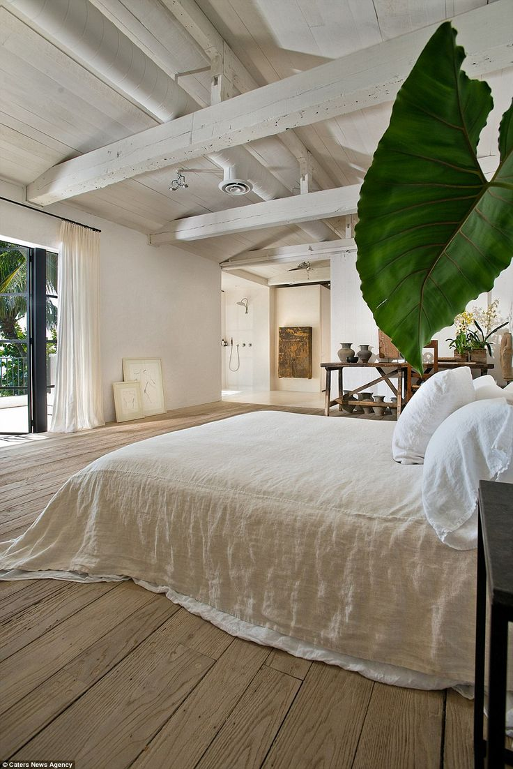 With lots of natural light, the bedrooms also feature plenty of greenery in keeping with t...
