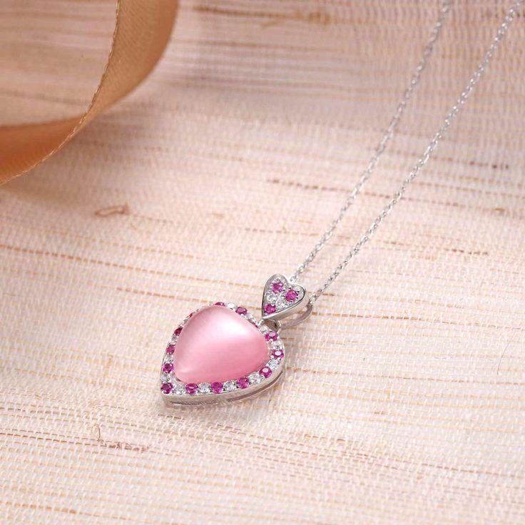 """UneJoux Sterling Silver Pink Lady Pendant Necklace, 18"""" - UneJoux"""