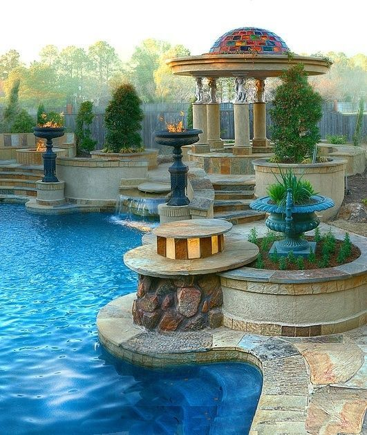 .Beautiful pool and gazebo