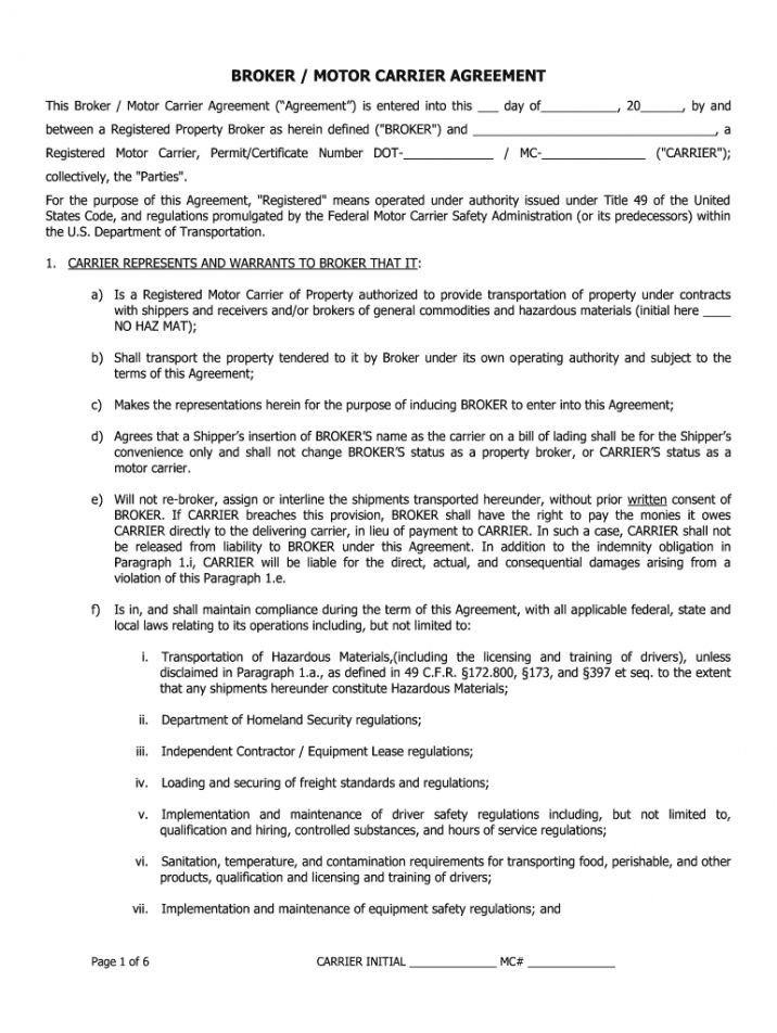 Sample Blank Carrier Packet Fill Out And Sign Printable Pdf Template Signnow Freight Broker In 2021 Contract Template Brokers Templates