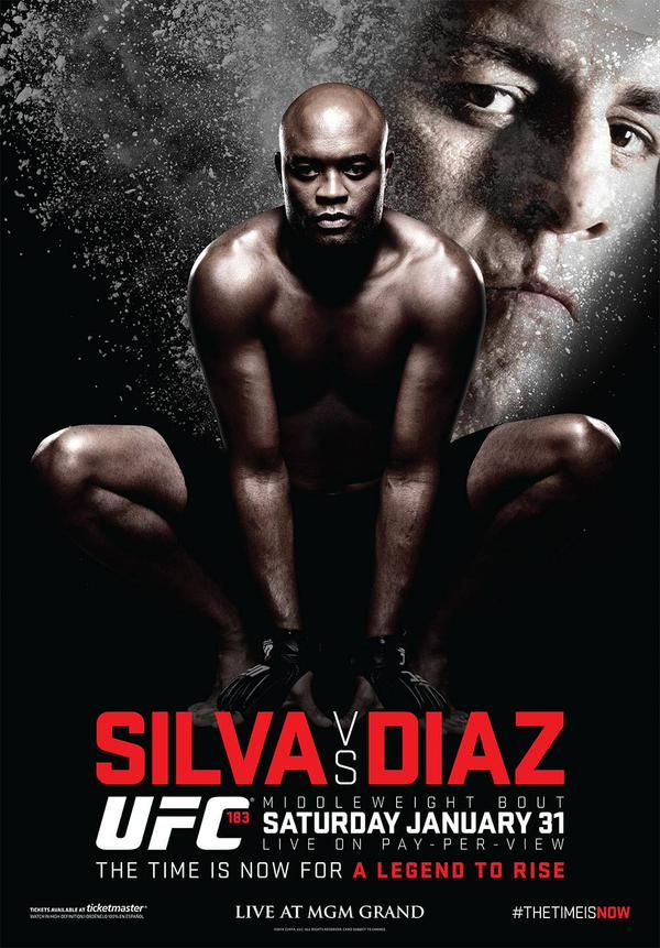 Anderson Silva vs Nick Diaz poster : if you love #MMA, you will love the #MixedMartialArts and #UFC inspired gear at CageCult: http://cagecult.com/mma