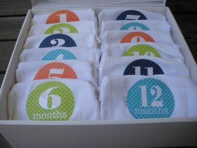 Baby Shower Gift....Monthly Onesies for photos.