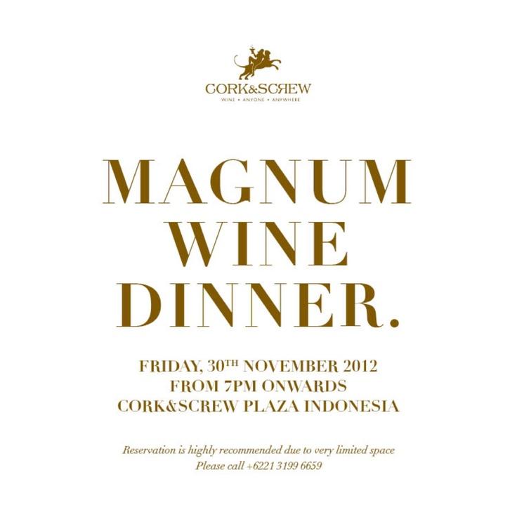 Magnum Wine Dinner