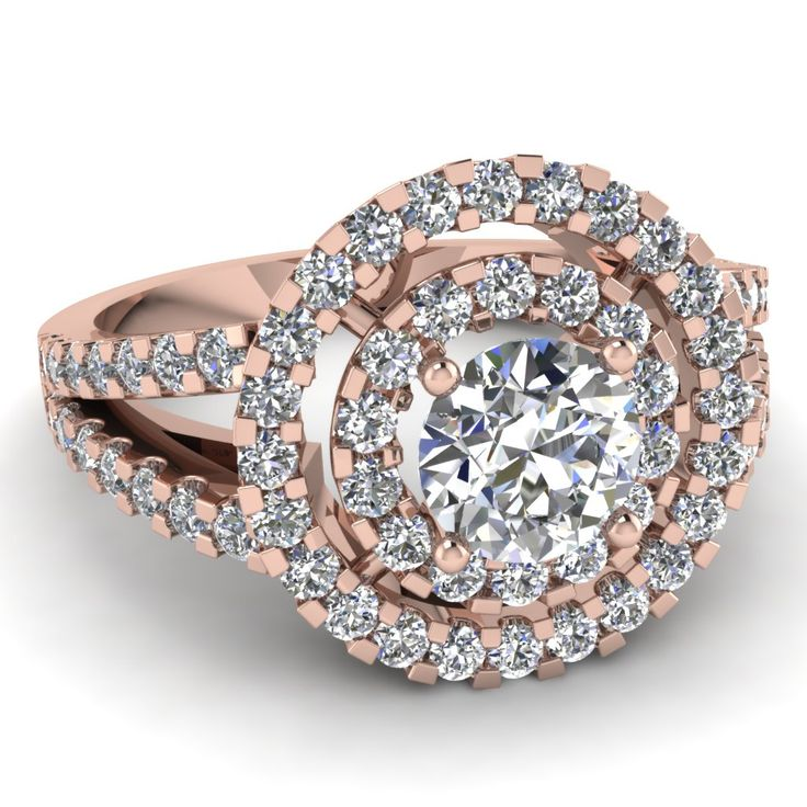 Superb Rose Gold Engagement Rings With Canary Yellow Diamond