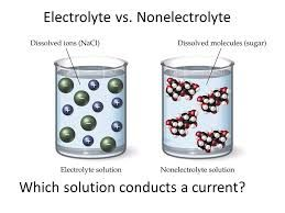 Image result for Electrolyte and Non-Electrolyte