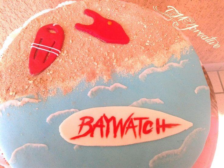 #TMJcreative #birthdaycake #baywatch