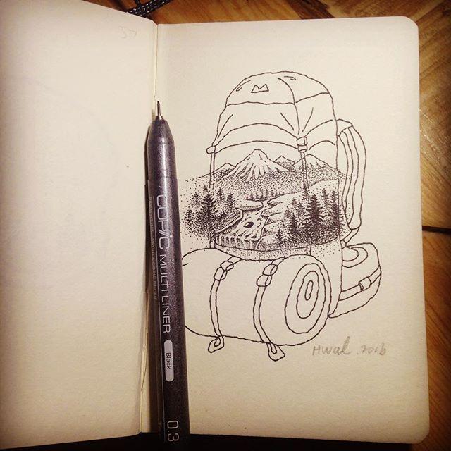 #sustainable #wildlife #art #illustration #camping #nature