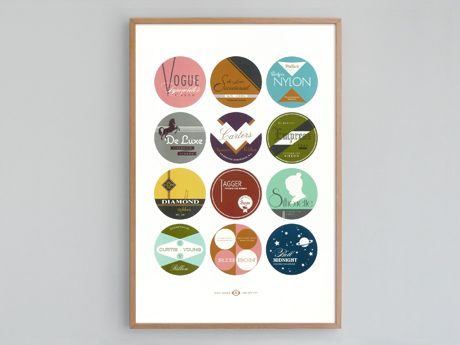 Typewriter Ribbon Tins Print by present and correct.