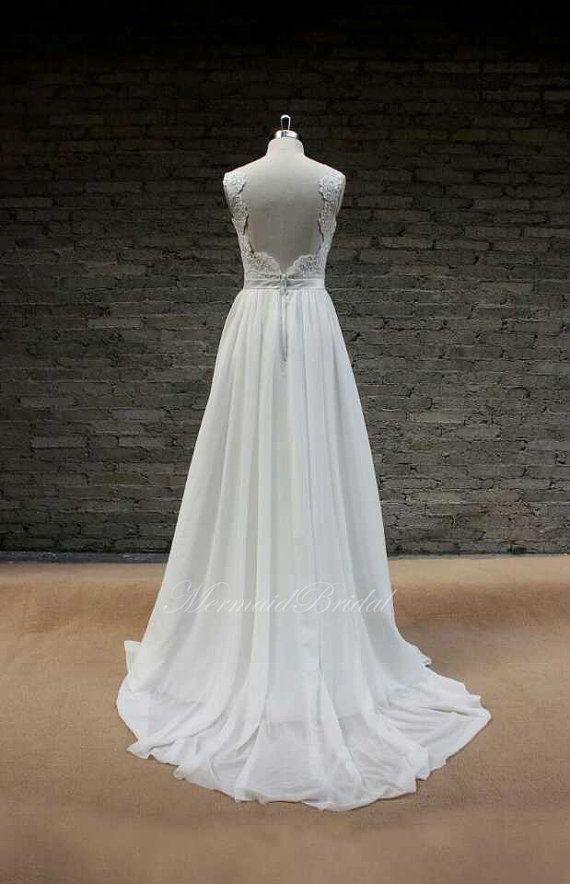 Backless Wedding Dress Sexy Wedding Dress Lace by MermaidBridal