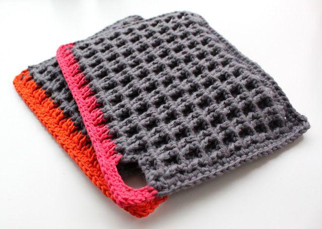 Lutter Idyl: Hæklerier Crochet pot holder