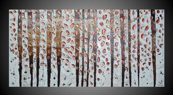 He encontrado este interesante anuncio de Etsy en https://www.etsy.com/es/listing/103710664/birch-tree-painting-with-copper-abstract