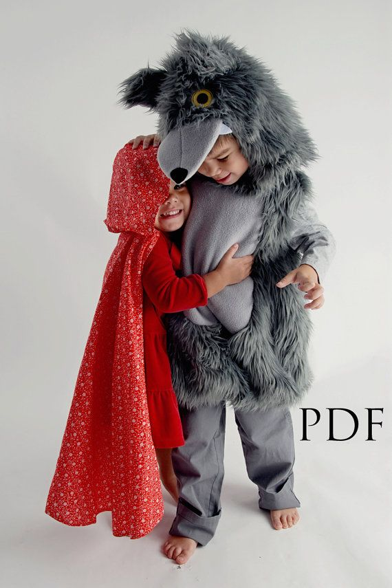 cute wolf and red ridding hood costumes