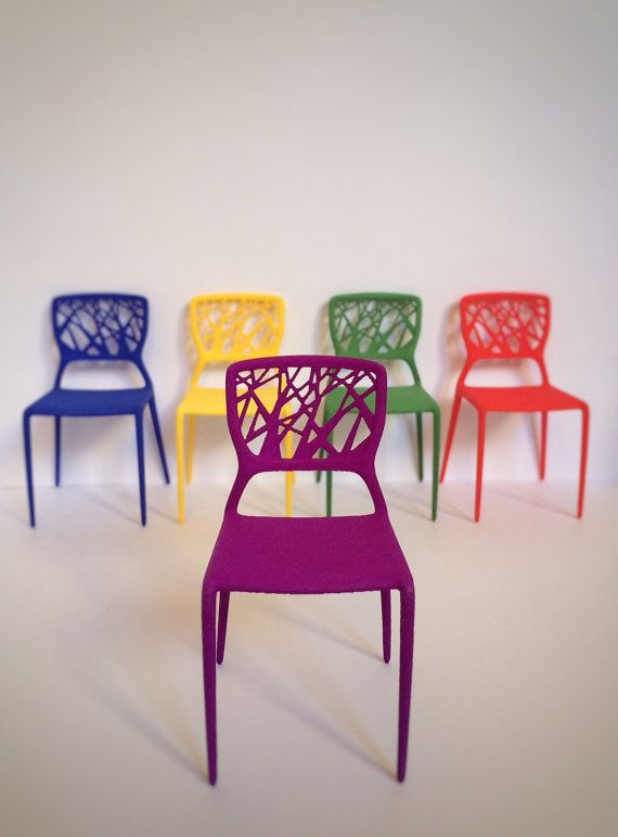 3D Printed Colored Chair Scale 1:12