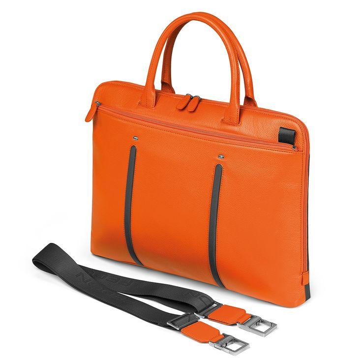 Attavanti - Giorgio Fedon Slim Laptop MacBook Bag - Orange Grey, £165.00 (http://www.attavanti.com/luxury-italian-leather-briefcases/giorgio-fedon-slim-laptop-macbook-bag-orange-grey/)