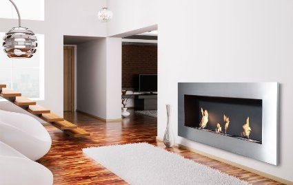 Amazon.com: Moda Flame Hudson Recessed Wall Mounted Ethanol Fireplace: Home & Kitchen