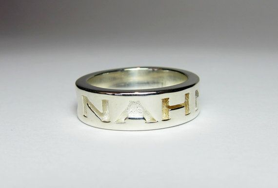 Sterling Silver 'Disagree' Ring Disagree by FacetiousDesigns