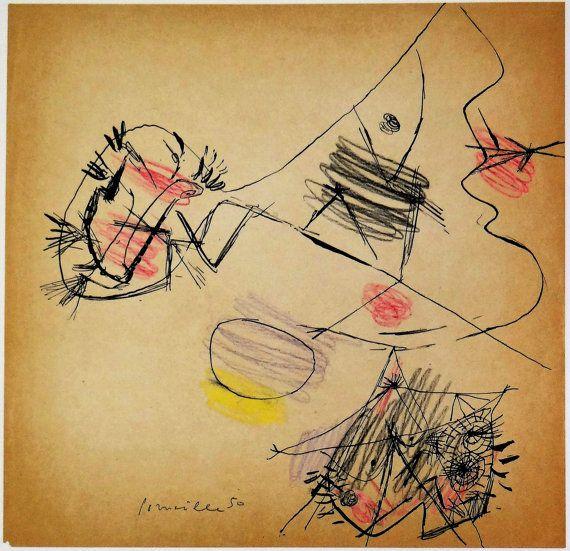 Corneille,  Art, gravure, Cobra, La belle passante, visage, style Picasso,  artiste hollandais, surréaliste,  lyrisme, Vincent van Gogh,