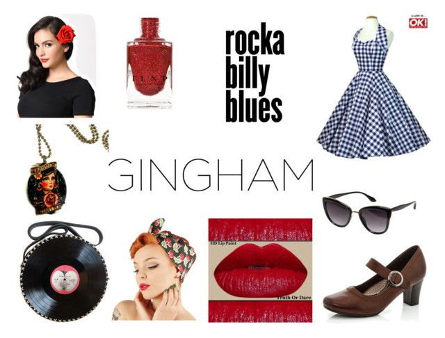"""""""Rockabilly Gingham Dress"""" by gothicvamperstein on Polyvore featuring Rasolli, Avenue and gingham"""