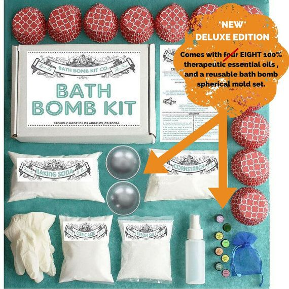Bath Bomb Making Kit with 100% Pure Therapeutic by DIYgiftKITSco