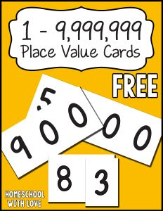 Use these free place value cards to help your kids learn to build, read, and compare numbers.