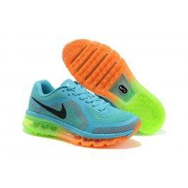 Nike Air Max + 2014 Frauen Schuhe Lichtblau Orange