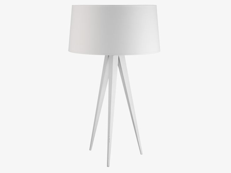 YVES WHITE Metal White metal tripod table lamp base - HabitatUK