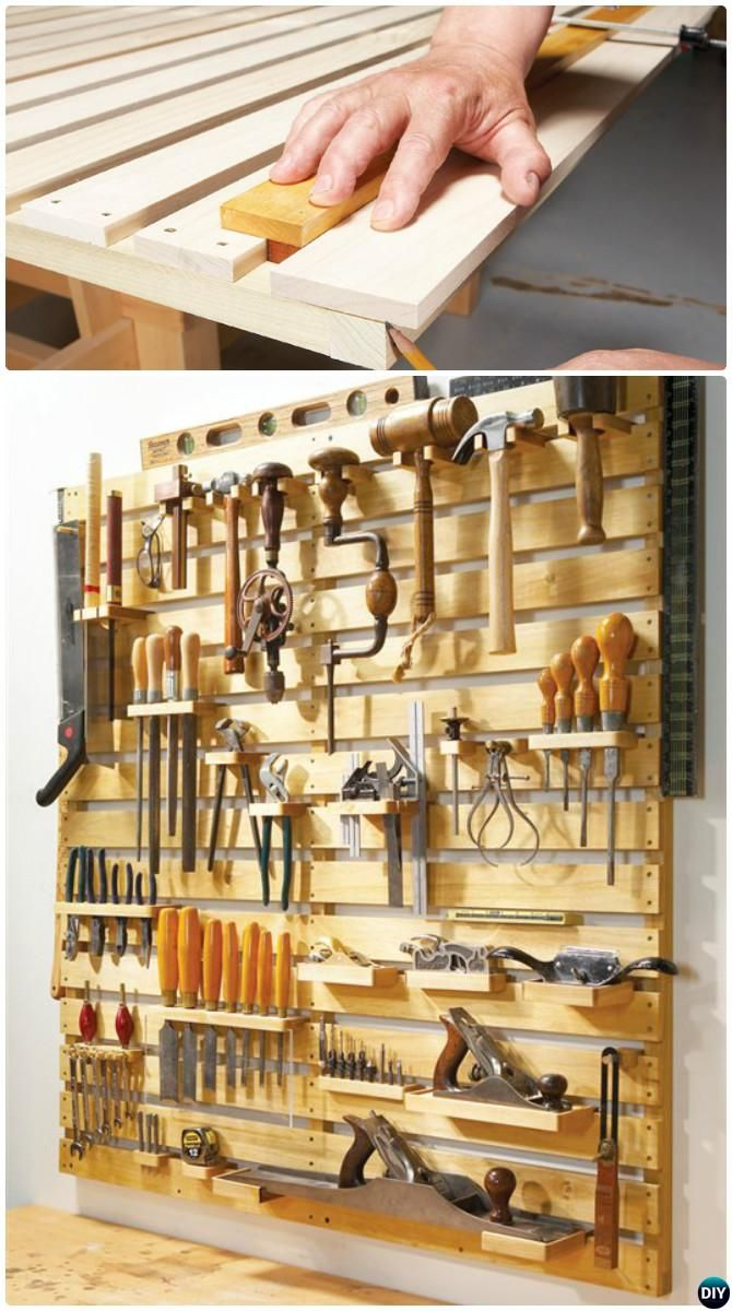 Wood Tool Track-#Garage #Organization and Storage DIY Ideas Projects