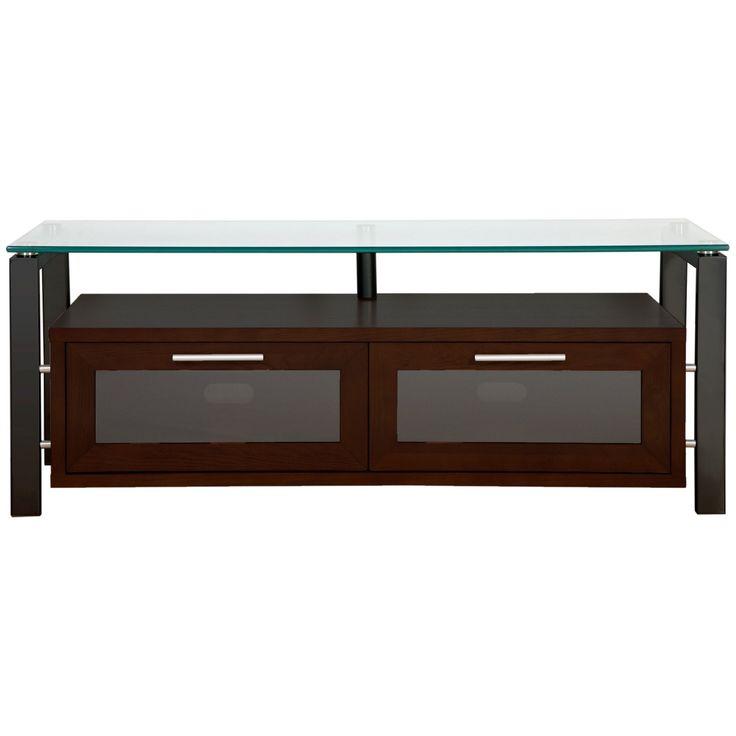 Plateau Decor 50 Inch TV Stand in Espresso with Black Frame - DECOR 50 (E)-B
