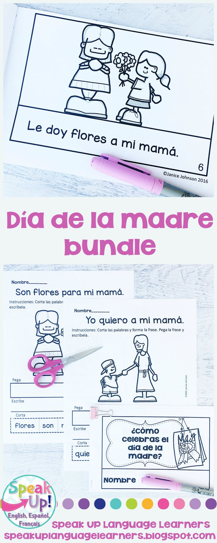 El día de la madre Spanish Bundle {Mother's Day en español}