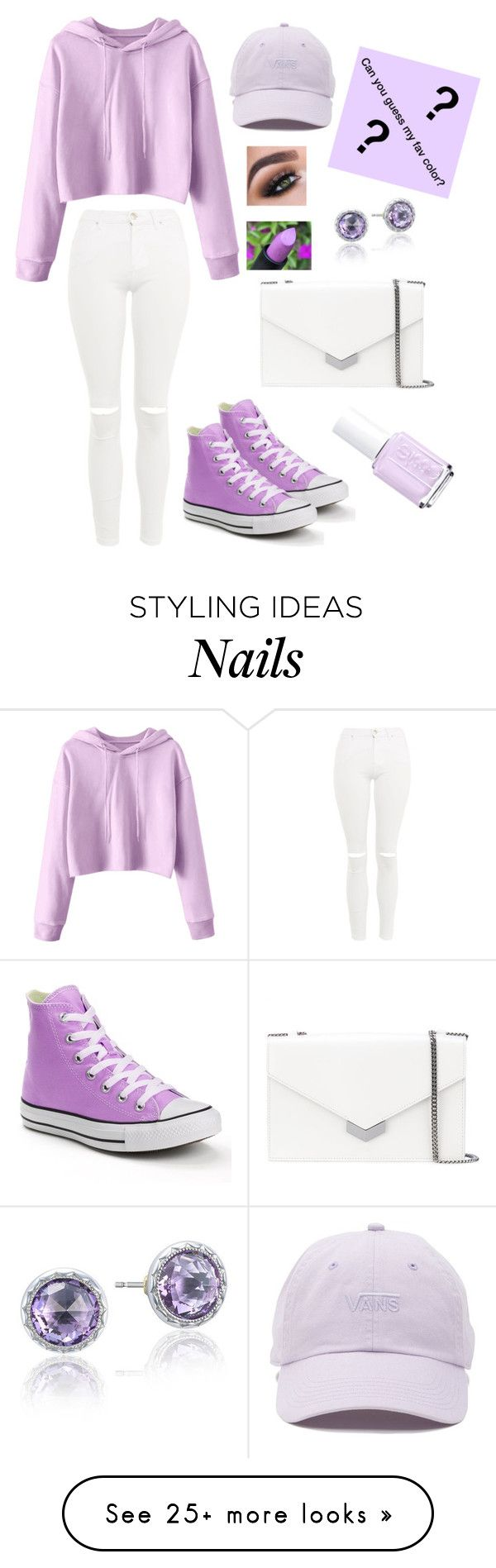 """Never too much Purple"" by lover-of-tea on Polyvore featuring Topshop, Converse, Jimmy Choo, Essie, Vans and Tacori"