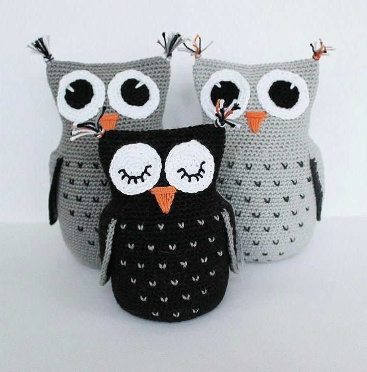 Crochet Three Cute Owl – Free Pattern - Crochet Amigurumi - 225 Free Crochet Amigurumi Patterns - DIY & Crafts