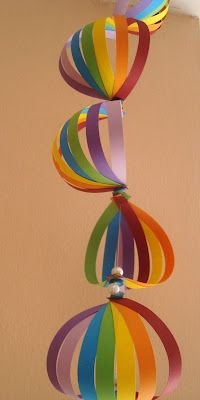 Decoration craft for kids for Mara's Rainbow Birthday Party.