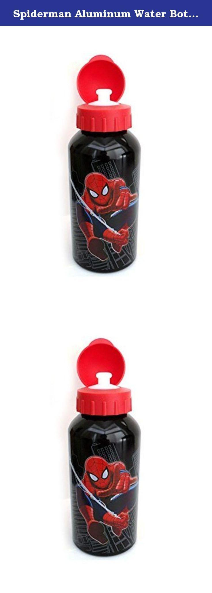 Spiderman Aluminum Water Bottle For Kids [14 Oz - 400 Ml]. Spiderman Aluminum Water Bottle For Kids - 14 Oz, 400 mL.