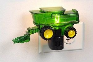 A great night light for the future farmers who love John Deere!
