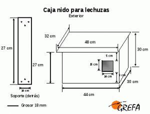 Modelo caja nido para lechuza común (Tyto alba)                                                                                                                                                                                 Más